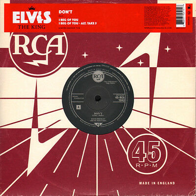 """Elvis Presley Don't / I Beg Of You 10"""" vinyl Limited Edition MINT CONDITION 07"""