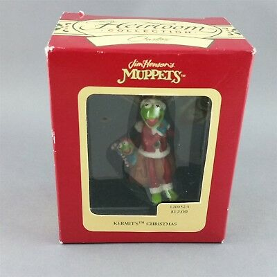 Kermit Robin Christmas Ornament Muppets American Greetings 1993 with Box