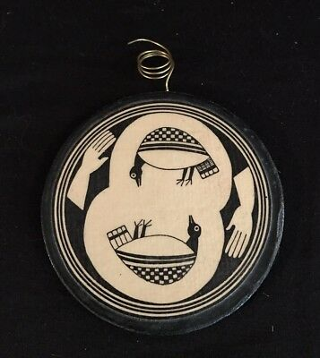 Vintage wooden ornament Native American Indian Southwestern