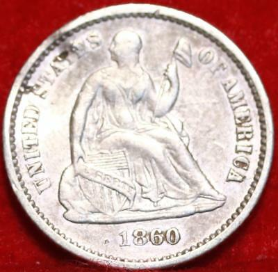 1860 Philadelphia Mint Silver Seated Half Dime Free Shipping