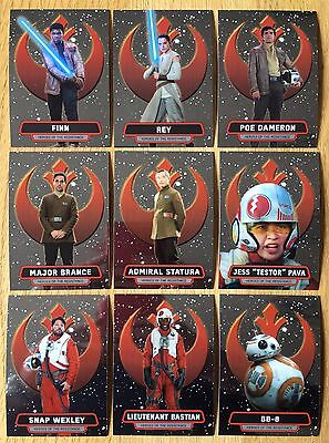 Star Wars The Force Awakens Chrome 18 Card Heroes of The Resistance Chase Set