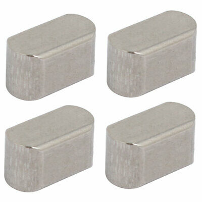 uxcell 32mmx5mmx5mm 304 Stainless Steel Key Stock Keystock Silver Tone 4pcs