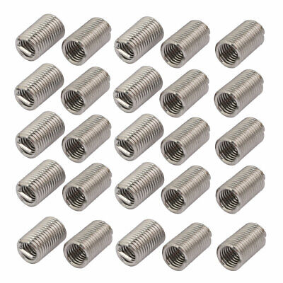 uxcell M5x0.8mmx15mm 304 Stainless Steel Helical Coil Wire Thread Insert 12pcs