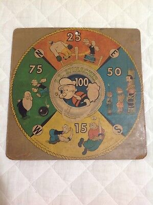 Popeye The Sailor 1958 Game Board 11.5 X 11.5