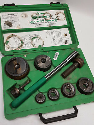 Greenlee 7238SB Slug-Buster Knockout Kit With Ratchet Wrench in storage case too