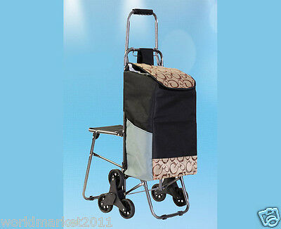 """%HNew Letter """"G"""" Chair Six-Tire Convenient Collapsible Shopping Luggage Trolleys"""