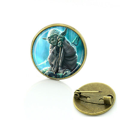STAR WARS YODA Globe Metal Pin brooch prop badge darth vader cosplay US Seller