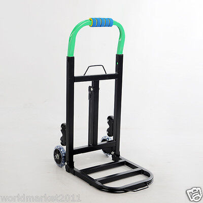 New Convenient Simple Green Two Wheels Collapsible Shopping Luggage Trolleys
