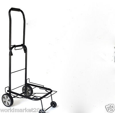New Convenient Black Four Wheels Collapsible Shopping Luggage Trolleys