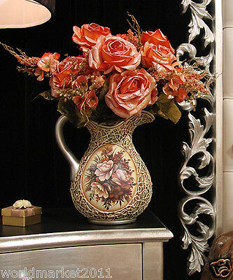 New Home Decoration Height-50cm Vase+ Roses High Emulation Cloth Flowers