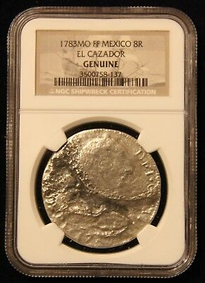 1784 El Cazador Spanish Galleon Shipwreck Silver 1783 Eight Reale NGC