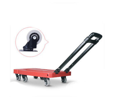 A58 Rugged Aluminium Luggage Trolley Hand Truck Folding Foldable Shopping Cart
