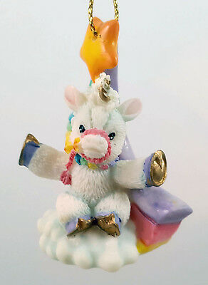 Enesco Mini Miniature Starlight Starbright Unicorn Horse Ornament Ret 1997 MIP