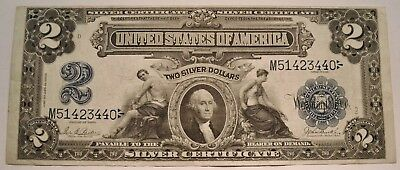 1899 $2 Silver Certificate Middle to Higher Grade Note Mini Washington Port Hole