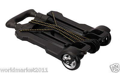 New Convenient Black Mini Two Wheels Collapsible Shopping Luggage Trolleys