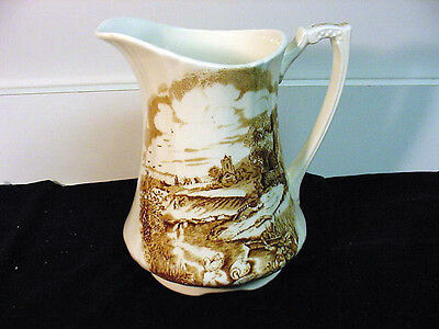 """Alfred Meakin (England) """"pastoral""""  (Brown)  Nice Pitcher  Htf! Discontinued"""