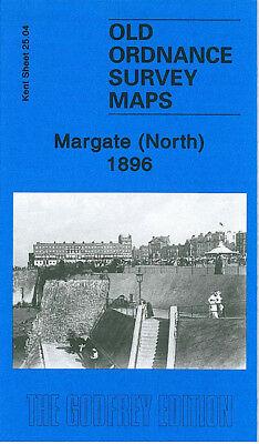 Old Ordnance Survey Map Margate North Fort Green Marine Drive Cliftonville 1896