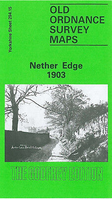 Old Ordnance Survey Map Nether Edge 1903 Sheffield Heeley Station Carter Knowle