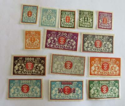 Germany Danzig 1921 - 23 small collection (72 stamps) unused