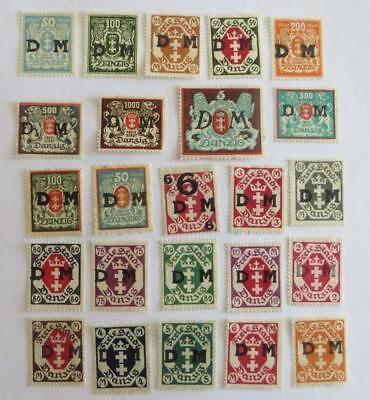 Germany Danzig 1921 - 23 small collection Official unused