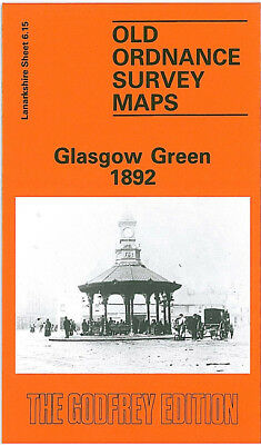 Old Ordnance Survey Map Glasgow Green 1892 Gorbals Hutcheson Town Bridgeton