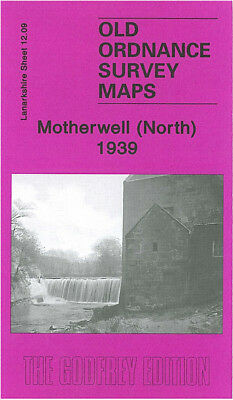 Old Ordnance Survey Map Motherwell North 1939 Bellshill Road Colville Park