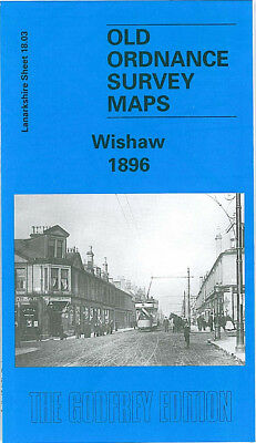 Old Ordnance Survey Map Wishaw 1896 Stewarton Street Kirk Road Town Hall