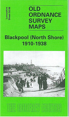 Old Ordnance Survey Map Blackpool North Shore 1910-1938 Claremont Pk Lowther Ave