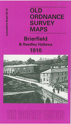 Old Ordnance Survey Map Brierfield Reedley Hallows 1910 Burnley Colne Road