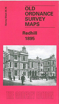 Old Ordnance Survey Map Redhill 1895 Nutfield Road Market Field Patteson Court