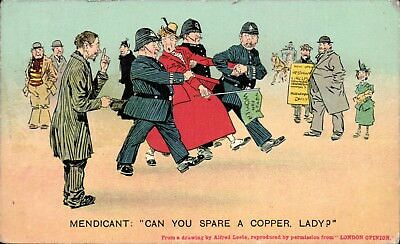 Suffragette Comic. Can You Spare a Copper in Series 62 by Bamforth.