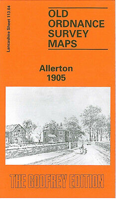 Old Ordnance Survey Map Allerton 1905 Liverpool Wavertree Sefton Park Station