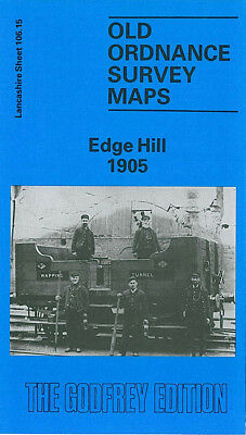 Old Ordnance Survey Map Edge Hill 1905 Liverpool Grove Street Wavertree Station