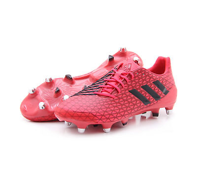 adidas Men's Predator Malice SG Rugby Union Boots Removable Studs Red/Black