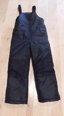 BOYS GIRLS  BLACK London Fog Bib BIBS  Snow  SKI Pants Size 8  EXCELLENT!