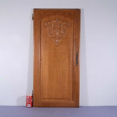 *Large Vintage French Louis XV Carved Architectural Panel Door Wood-Oak 2