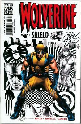 Wolverine #27 Dynamic Forces Signed Greg Land Df Coa Ltd 99 Marvel Comics Movie