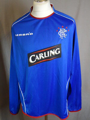 RANGERS Original 2005 LONG SLEEVED Home Shirt Umbro XXL / 2XL Adult Glasgow Rare
