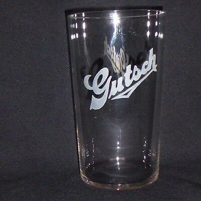 Rare Gutsch Brewing Co Pre-Pro Etched Shell 12Oz Beer Glass Sheboygan Wisconsin