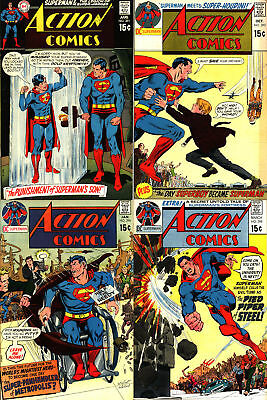Action Comics Early Bronze Age Lot - All 15 Cent Issues - Four (4) Big Books!