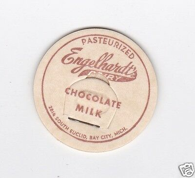 Milk Bottle Cap. Engelhardt's Dairy. Bay City, Mi.