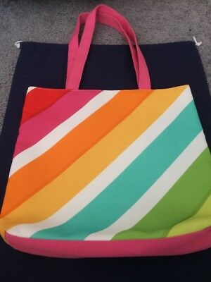 Clinique Limited Edition Multi Color Canvas Tote Style Bag