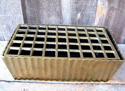 *old* Vintage Carnevale Brass Planter W Flower Frog Home & Garden Pot Basket