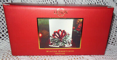 Lenox Winter Greetings Votive Candle Holder NEW