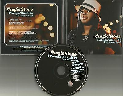 ANGIE STONE & SNOOP DOGG I wanna Thank ya INSTRUMENTAL &EDITs PROMO DJ CD Single