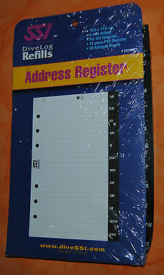 SSI DiveLog Refills Address Register * Logbuch Einlagen * neu *