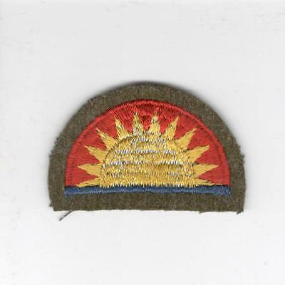 WW 2 US Army 41st Infantry Division Wool Blackback Cap Size Patch Inv# B379