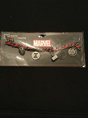Loot Crate Level Up Exclusive Marvel Avengers Charm Bracelet