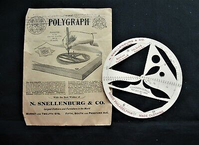 Vintage N. Snellenburg & Co. Polygraph  Drawing Tool Architects Needlework 1885