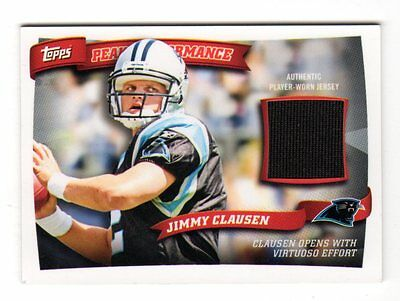 Jimmy Clausen Nfl 2010 Topps Peak Performance Relics ( Panthers, Bears,ravens)